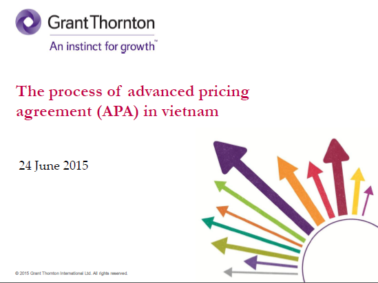 The Process Of Advanced Pricing Agreement Apa In Vietnam