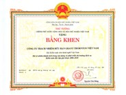 Certificate of Merit from the Prime Minister of Vietnam for contributing and developing Independent Auditing Services in Vietnam